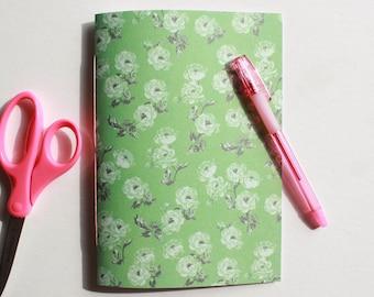 Cute Green Floral Journal