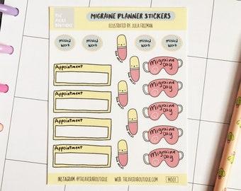 Migraine Planner Stickers