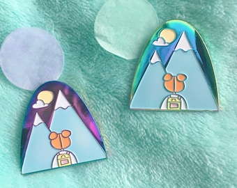 Rainbow Pastel Mountain Enamel Pin