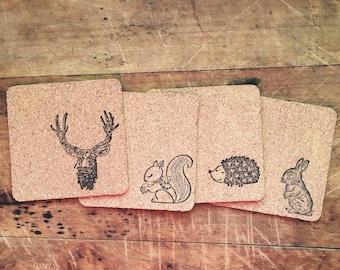Woodland Animal Coaster Set