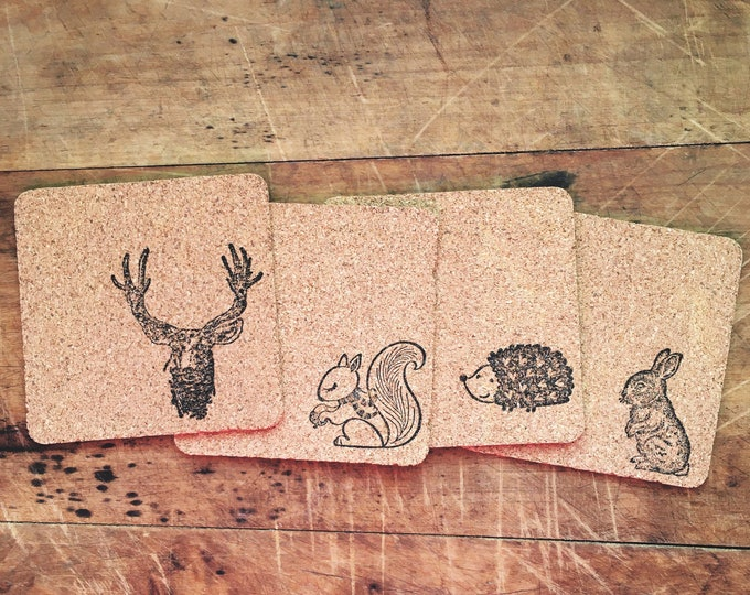 Woodland Animal Coaster Set