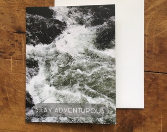 Stay Adventurous greeting card - The Great Smokey Mountains