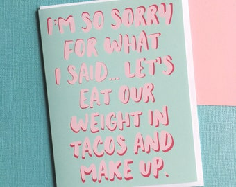 Funny Sorry Card