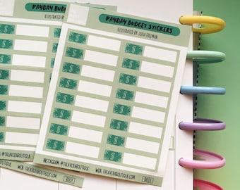 Payday Budget Planner Sticker Sheet