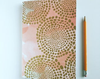 Watercolor Journal with Gold Glitter