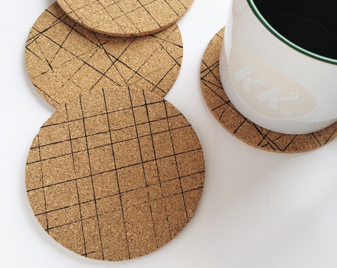Double Sided Round Cork Coasters