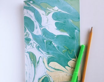 Green Marbled Journal
