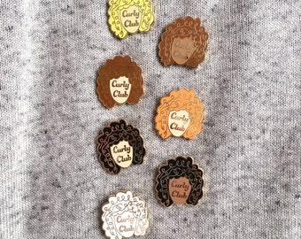 Curly Club Enamel Pin