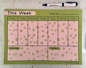 Large Weekly Planner Pad
