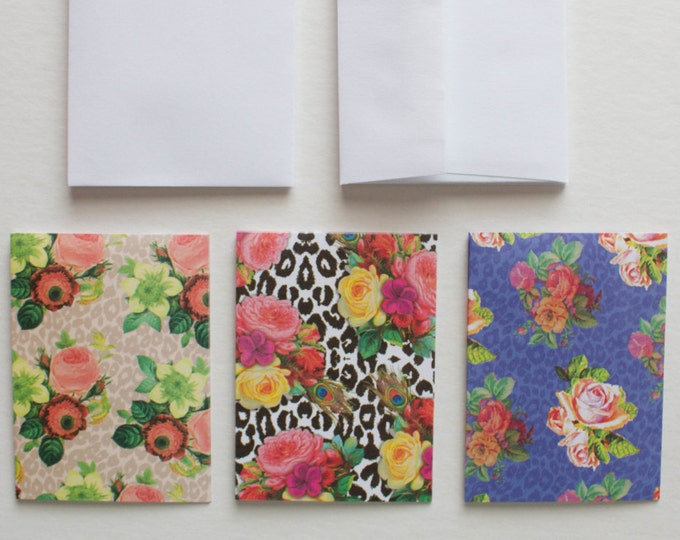 Floral & Animal Print Stationery