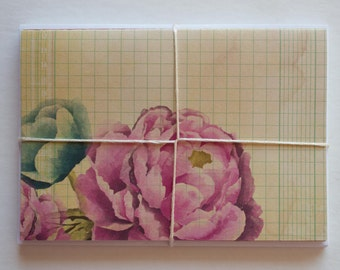 Antique Floral Themed Note Cards