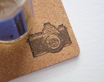 Camera Cork Coasters