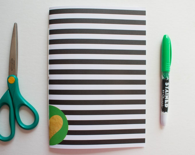 Striped Journal With Heart