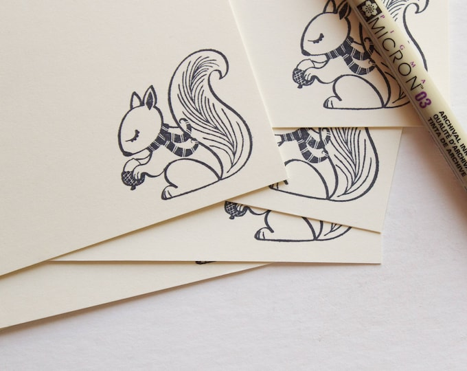 Cute Ivory Squirrel Note Cards
