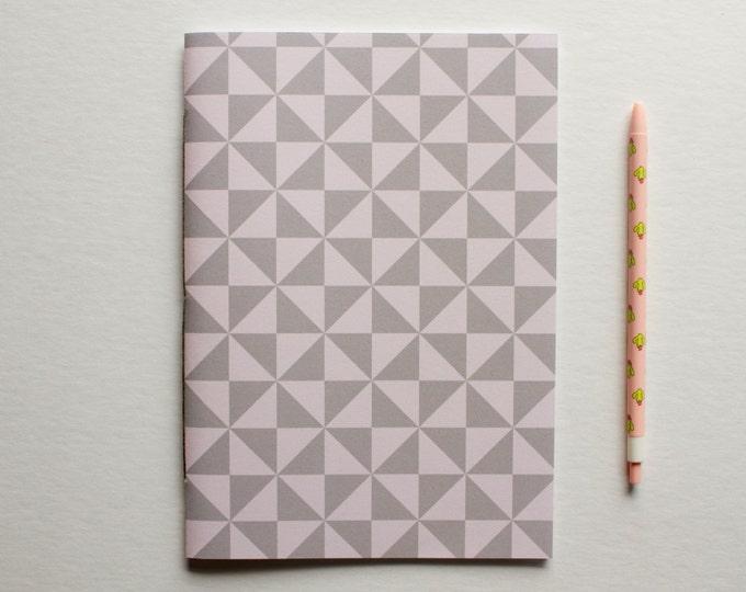 Gray & Pink Geometric Journal