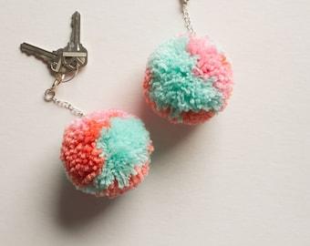 Bubble Gum, Pom Pom Keychain Charm