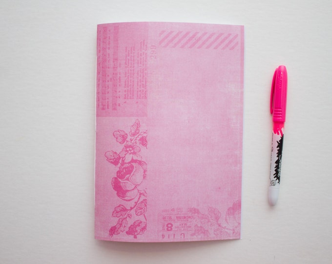 Cute Pink Floral Journal