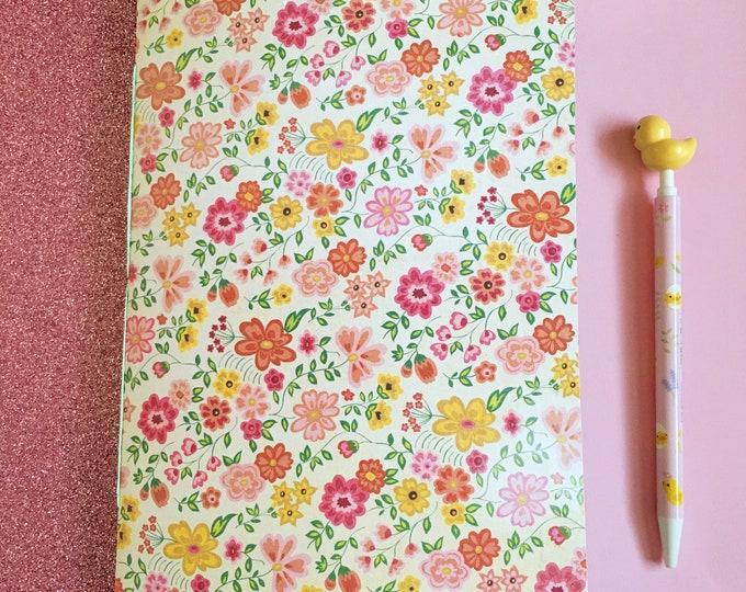 Cute Floral Journal