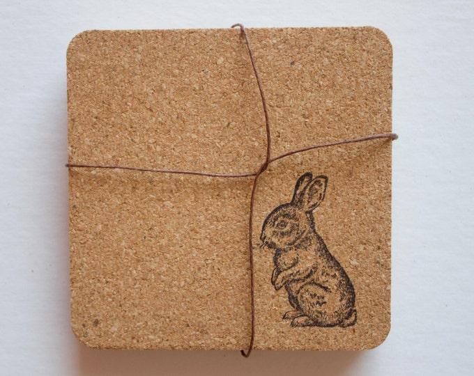 Bunny Cork Coasters