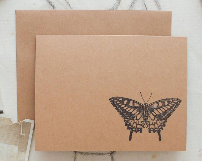Butterfly Kraft Note Cards