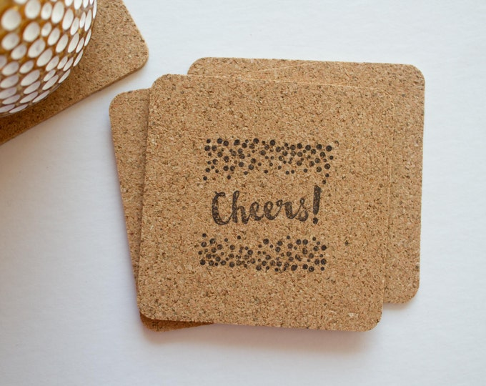 Cheers! Cork Coasters