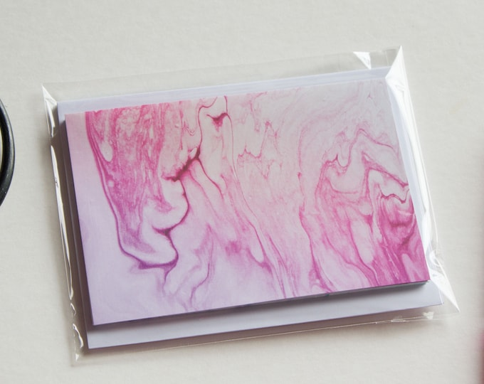 Cute A2 Marbled Note Card Set