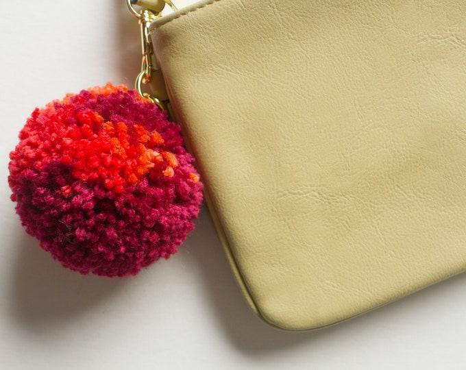 Wild Cherry & Orange, Pom Pom Keychain