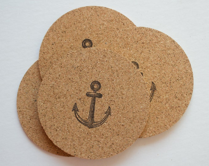 Round Anchor Cork Coasters
