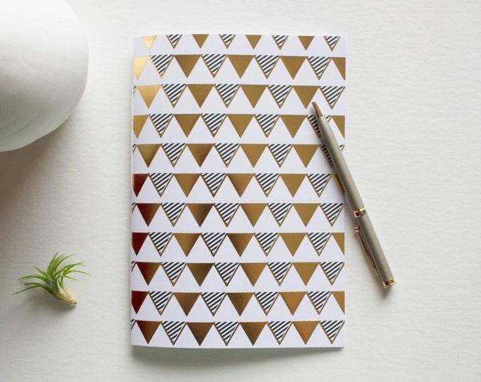 Gold Foil Printed Banner Notebook