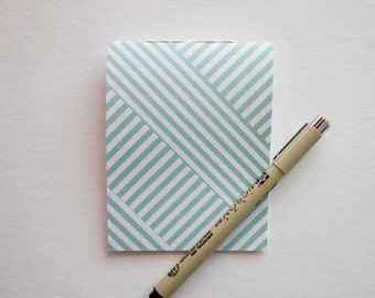 Green & White Pocket Notepad