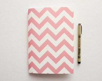 Pink & Cream Chevron Journal