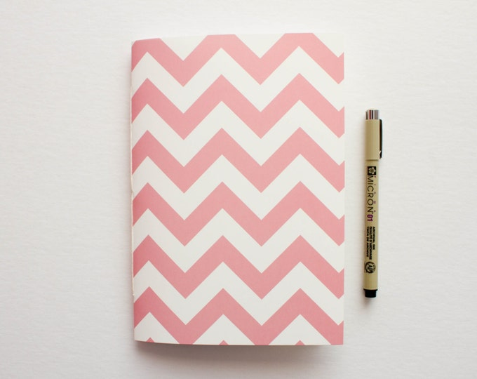 Pink & Cream Chevron Journal