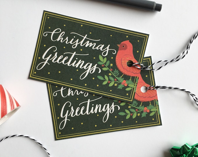 Christmas Greetings Gift Tags