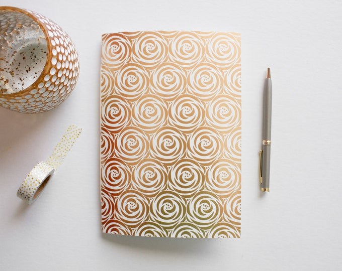Gold Foil Rose Journal