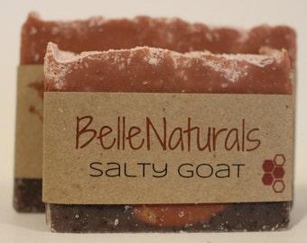 Salty Goat - Himalayan Pink Sea Salt, Raw Goat's Milk, Rose Kaolin Clay, Detox, Nourish, Sage