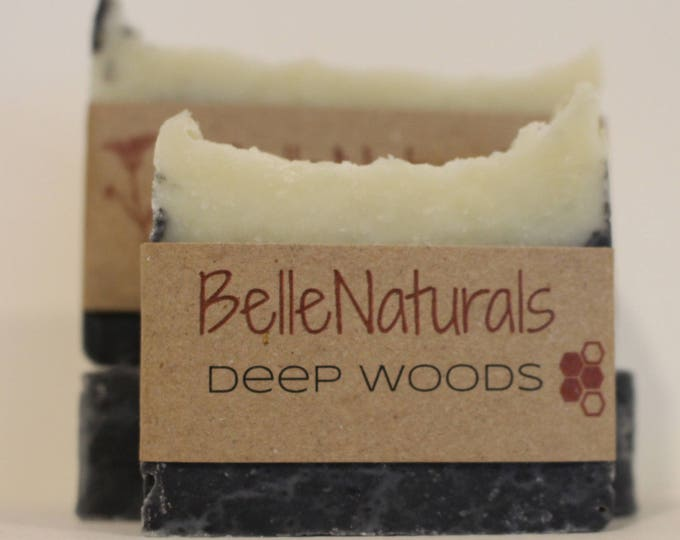 Featured listing image: Deep Woods - rich, earthy aroma with a terrific lather