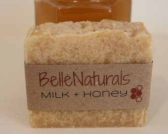 Milk + Honey - Raw Goat's Milk, Oatmeal, Honey, Floral, Creamy, Natural Soap