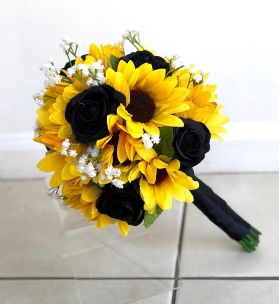 Rose And Sunflower Wedding Bouquet Off 71 Buy