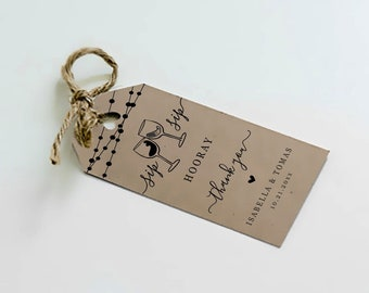 Printable Wine Tag Template, Favor for Wine Tasting Wedding Bridal Shower Birthday Party, Rustic Kraft Paper Instant Download Digital File