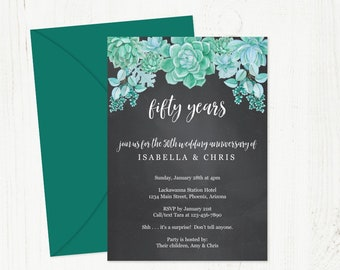 Wedding Anniversary Invitation Rustic Printable Party Etsy