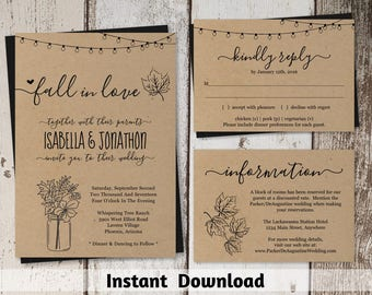 Wedding Invitations - Instant Invitation