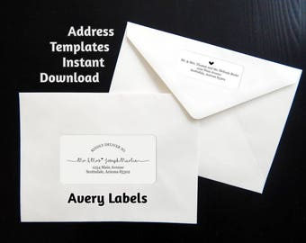 Avery Label Etsy - 2x4 label template pdf