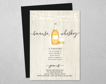 Whiskey Invitation Etsy