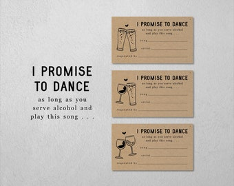 Funny Song Request Card Printable Template, Invitation Insert / Enclosure, Fun Brewery Winery Wedding, DIY Digital File Instant Download PDF
