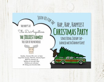 Printable National Lampoon Christmas Vacation Invitation Template - Funny Themed Christmas Party Invite - Instant Download Digital File PDF