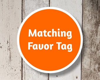 Favor Tag Add On - Get a matching Favor Tag for your Instant Invitation template