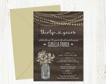 100th birthday invitations etsy printable birthday invitation template for women woman rustic wood mason jar download 16th 21st 30th 40th 50th 60th 70th 80th 90th 100th filmwisefo