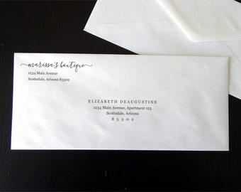 Business Envelope Template - Printable Business Envelope Address Template - Business Stationary - Instant Download Digital File PDF #10