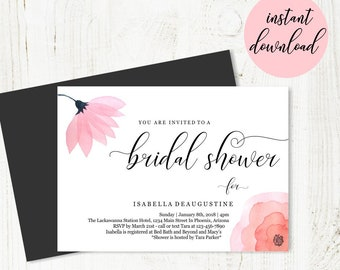 Beauty The Beast Bridal Shower Invitation Template Etsy