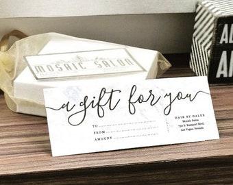 Printable Gift Certificate Template, Gift Card Maker, Simple Rustic Kraft Paper, Editable diy pdf Instant Download, Business Envelope #10, 9